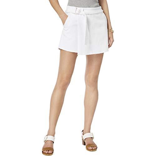 Tommy Hilfiger Womens St. Tropez Faux Wrap Mini Skort White 14