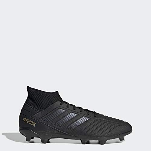 adidas Men's Predator 19.3 Firm Ground Soccer Shoe, Black/Black/Gold Metallic, 7 M US (7 Soccer Cleats Adidas)