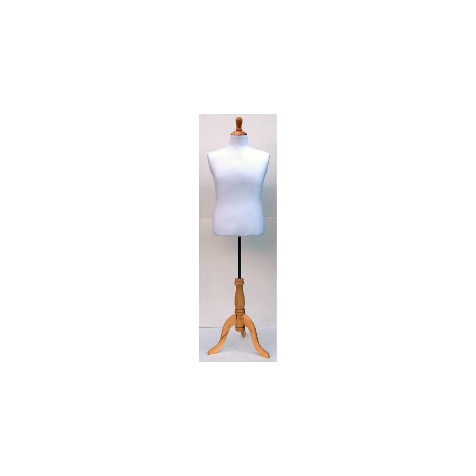 Dress Form New White Male Torso Dress Form Mannequin.