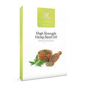 Hemp Seed Oil 500mg | High Strength | Healthspan | 60 Capsules | Omega 3