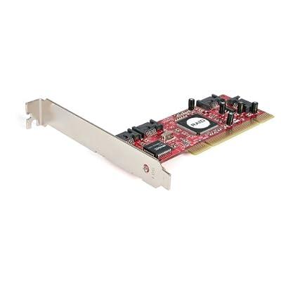 StarTech.com 4 Port PCI SATA RAID Controller Adapter Card PCISATA4R1 by STARTECH.COM