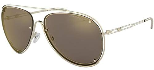 Armani EA2073 Sunglasses 30135A-63 - Pale Gold Frame, Light Brown Mirror Gold EA2073-30135A-63