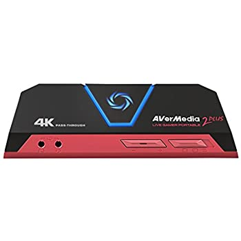 Image of Brackets & Stands AVerMedia Live Gamer Portable 2 Plus, 4K Pass-Through, 4K Full HD 1080p60 USB Game Capture, Ultra Low Latency, Record, Stream, Plug & Play, Party Chat for Xbox, Playstation, Nintendo Switch (GC513)
