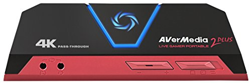 AVerMedia Live Gamer Portable 2 Plus, 4K Pass-Through, 4K Full HD 1080p60 USB Game Capture, Ultra Low Latency, Record…