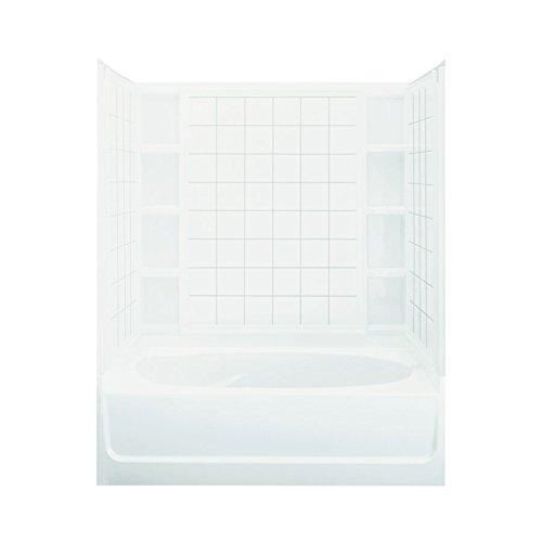 STERLING 71110118-0 Ensemble AFD Bath Tub and Shower Kit, 60-Inch x 42-Inch x 74.24-Inch, - Bathtub Afd