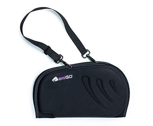 amiGO Travel Seat Cushion, Gel & Foam Portable Cushion, Folds in Half, Versatile Handle, Relieves Back Pain, Coccyx-Cutout by amiGO (Image #2)