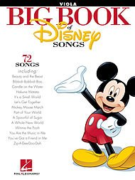 Hal Leonard The Big Book Of Disney Songs Viola (Zip A Dee Doo Dah Sheet Music)
