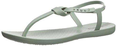 Ipanema Women's Ellie Flat Sandal, Green, 10 M US