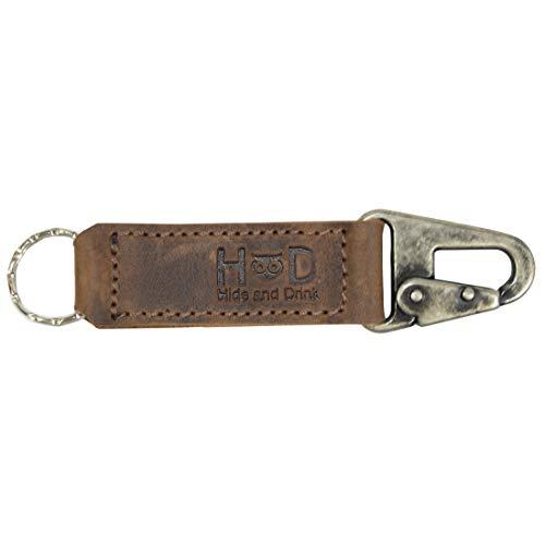 Hide & Drink, Leather Key Ring Holder/Keychain Fob/Belt Loop Attachment Handmade Includes 101 Year Warranty :: Bourbon -