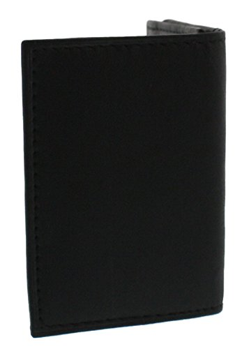 Leather Gusset Card Case (Ted and Jack - Classic Leather Card Case with Gusset in Black)