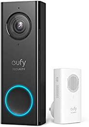 eufy Security, Wi-Fi Video Doorbell with 2K HD, 2-Way Audio (Requires Existing Doorbell Wires, 16-24 VAC, 30 V