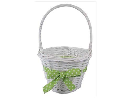 Darice 30045850 Basket Easter W Green Bow ()