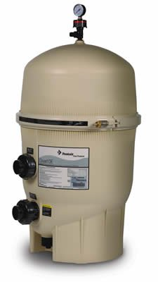 Pentair 188592 Quad D.E. Cartridge Style D.E. Pool Filter, 60 Square Foot, 120 GPM