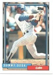 1992 Topps Traded Sammy Sosa Baseball Card IN PROTECTIVE SCREWDOWN CASE #109T Sammy Sosa Mint