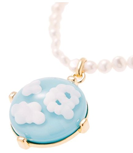 [Q-pot. Mokumokumo Blue Sky necklace (S )Fashion Jewelry New From Japan] (Vintage Costume Jewelry Images)