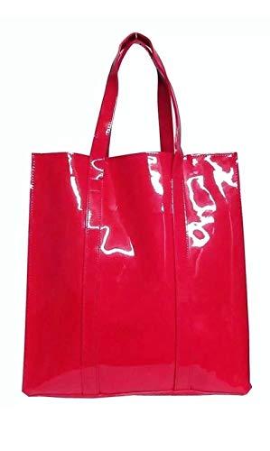 Twelve Nyc Patent Tote Handbag (Fuchsia)