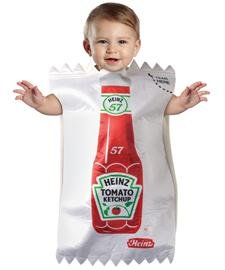 [Baby Heinz Ketchup Package Bunting (3-9 months)] (Childrens Food Halloween Costumes)