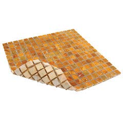 Antiquity Mosaics Gold Travertine Marble Tile Sheet