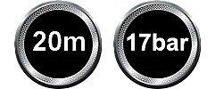 POWAIR0210 20m max Druck 17 bar Druckuft Schlauchrolle Art
