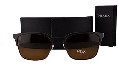 Prada PR61SS Sunglasses Gunmetal Gray w/Polarized Brown Lens U6C5Y1 SPR61S