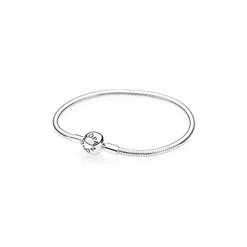 - Round Smooth Sterling Silver Clasp Bracelet for Women 590728 (20)
