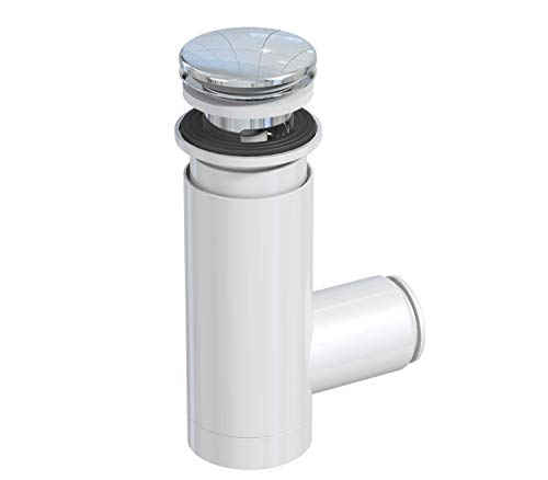 PREVEX Easyclean Sink Trap with Chrome Click Clack for Bathroom