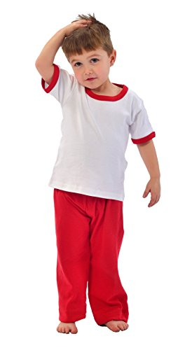 Monag Baby Boys T-Shirt 12-18 M White/Red