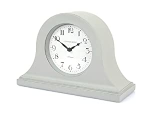 Rouen Mantel Clock French Grey Amazon Co Uk Kitchen Amp Home