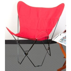 Red Butterfly Chair Cover Folding Chairs Patio Lawn G