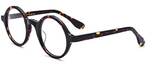 - HEPIDEM Acetate Men Vintage Round Optical Glasses Frame Spectacles Eyeglasses (Zolman,Leopard)