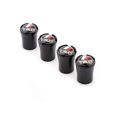 Car Wheel Tire Valve Stem Caps for TRD Styling Decoration Accessories (Black): Automotive