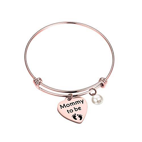 SEIRAA Mommy to Be Bracelet New Mom Gift Pregnancy Announcement Bangle (Bracelet-RG)