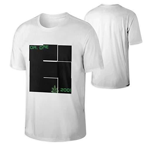 Dr DRE Men's Casual Short Sleeve Cotton T Shirt White L