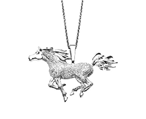 Kabana Horse Sterling Silver Penant Necklace with Chain ()