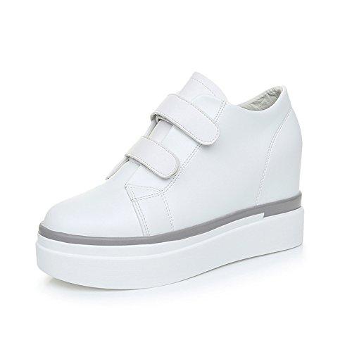 GTVERNH-L'Aumento Di Scarpe Bianche Con Tacchi Alti Tacchi 4Cm Scarpe Scarpe Casual 39 White