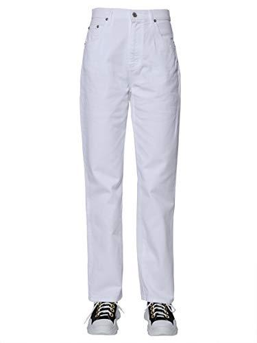 Femmes En Coton 2542mdp150l18478701 Pantalon Msgm Blanc qSFx1Hcw