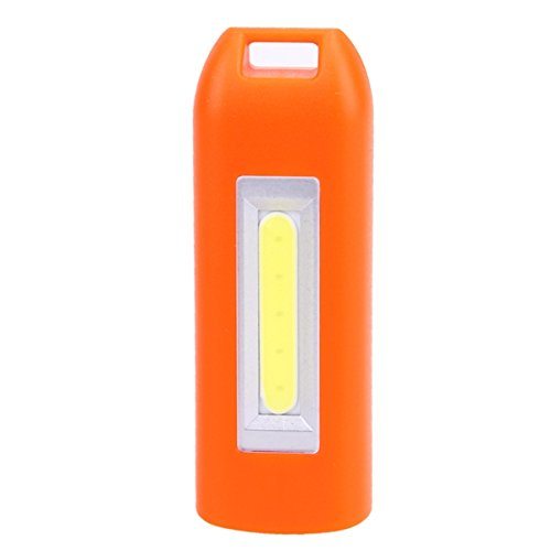 Hitommy Mini 0.5W USB Rechargeable COB LED Keychain Light Flashlight Pocket Torch - Orange ()