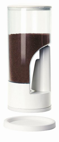 Zevro MCD101 Indispensable 1/2-Pound-Capacity Coffee Dispenser, White (Dispenser Ground Coffee)