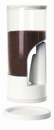 Zevro MCD101 Indispensable 1/2-Pound-Capacity Coffee Dispenser, White - Indispensable Coffee Dispenser