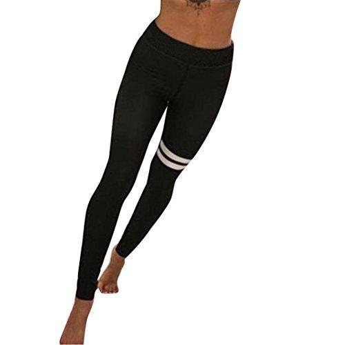 Hot Sale! Women Sport Leggings,Canserin Women's Fashion Yoga Workout Gym Leggings Fitness Sports Trouser Athletic Pants (M, Black)