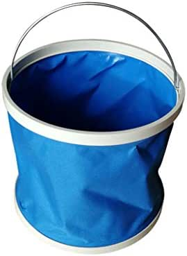 Chenway Silicone Collapsible Bucket with Handle for Camping Waterproof Folding Bucket Convenient Environmentally Friendly Wear Resistant (11L)