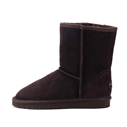 Resbalón Impermeable En Tobillo Bota Botines Clásicos Chicas Aire Al De Calientes Para Mujer Invierno Chocolate Zapatos Nieve Libre wxYS8018q