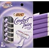 Bic Comfort Twin Shavers For Women Sensitive Skin-5 ct
