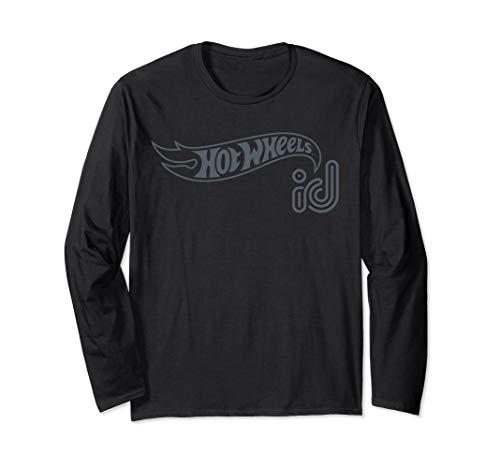 - Hot Wheels ID Gray Logo Long Sleeve T-Shirt