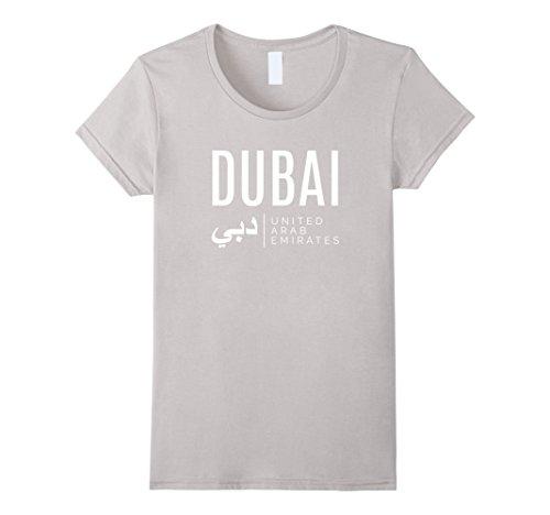 Womens Dubai United Arab Emirates UAE T-Shirt Large Silver