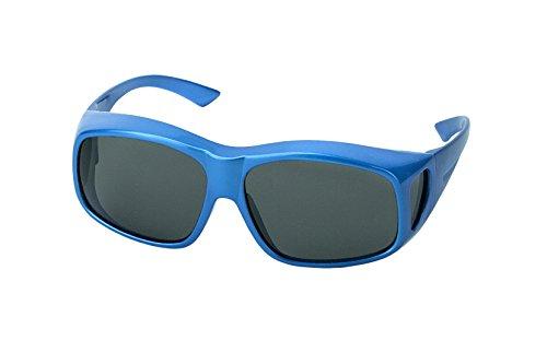 LensCovers Sunglasses Wear Over Prescription Glasses Large Blue