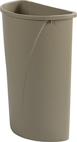 Carlisle 34302106 Centurian Half Round Waste Container Trash Can Only, 21 Gallon, Beige