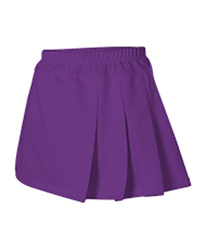 Alleson GIRLS CHEERLEADING THREE PLEAT SKIRT PURPLE XS C200Y C200Y-PU-XS Pleat Cheer Skirt