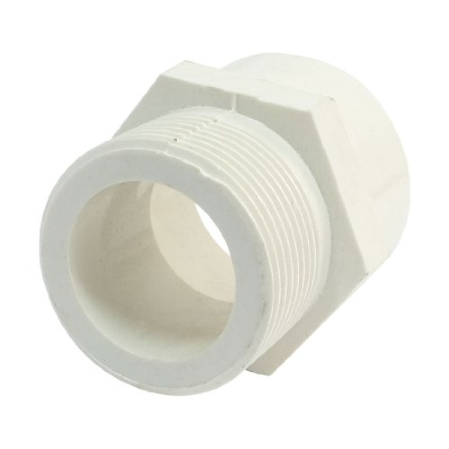 - uxcell 1 1/4 inchesPT Male Threaded 40mm PVC Pipe Straight Connector Coupler White