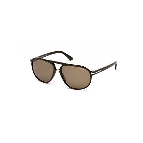 Tom Ford Sunglasses - FT0447-F 49J - Matte Dark Brown/Roviex ()